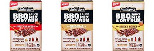 KC Masterpiece BBQ Sauce Mix and Dry Rub Variety Original, Sweet Honey and Spicy Habanero(3 pack) (Habanero Rub)