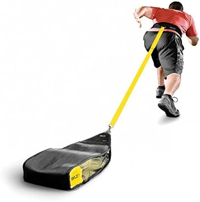 SKLZ Speedsac Variable Weight Resistance Training Sled Black//Yellow 10-30 Pounds Slitta per Allenamento di Resistenza variabile Unisex Adulto Taglia Unica