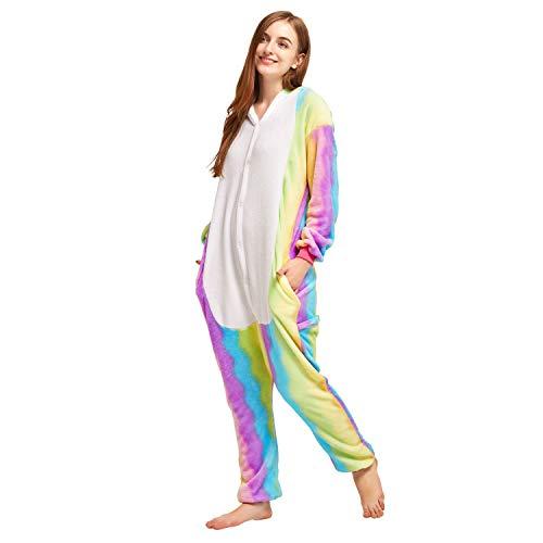 Halloween Costumes Ideas Teenage Girl (NOUSION Licorne Unisex Adult Pajamas, Cosplay Christmas Unicorn Sleepwear Onesies)