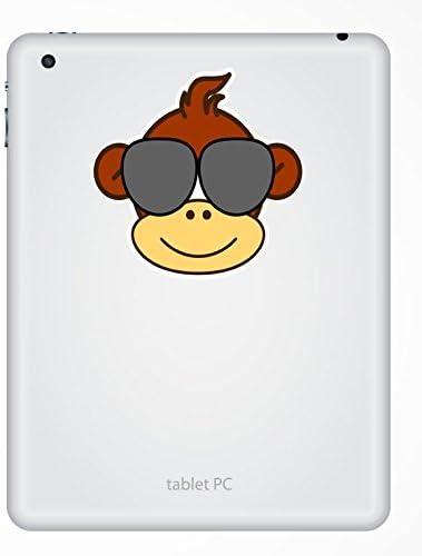 2 x 10cm//100mm Monkey Vinyl Sticker Decal Laptop Travel Luggage Car Bike Sign Fun #4767