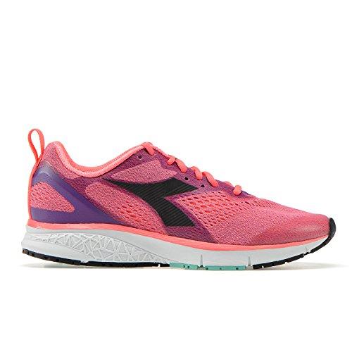 Diadora Kuruka 2 W, Zapatillas de Running Para Mujer C7302 - VIOLETA-NEON CORAL