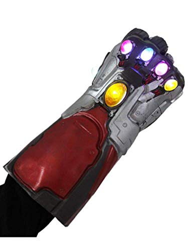 Endgame Iron Man Infinity Gauntlet Latex Replica LED Light Up Toy Cosplay Costume w/Necklace - http://coolthings.us