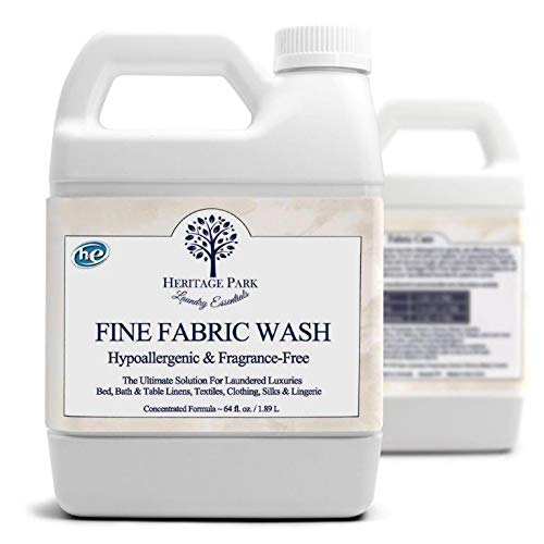 Heritage Park HE Lingerie Detergent For Silk & Delicates - Fragrance Free & Hypoallergenic (64 Oz. Bottle) - High Efficiancy (HE) Machines (Silk Fabric Wash)