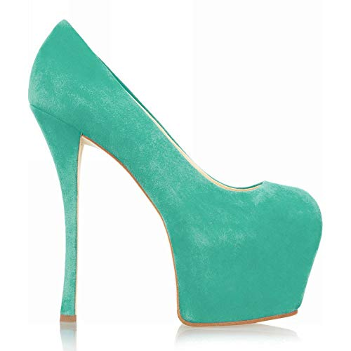 Chaussures Heels Mouth Round Stiletto High Femme Green Head Shallow x7qSqTYw