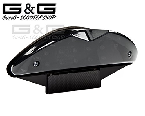 Rücklicht LED BLACK-EDITION mit Blinker für Yamaha Aerox MBK Nitro CPI RX8