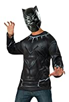 Captain America: Civil War Black Panther Costume Top and Mask, Multi, One Size