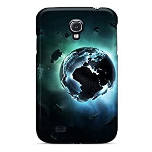 New Galaxy S4 Case Cover Casing(pixel Earth)