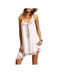 Changeshopping Boho Sexy Women Sleeveless Party Summer Beach Short Mini Dress