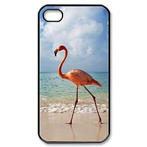 LZHCASE Diy Customized hard Case Flamingos For Iphone 4/4s [Pattern-1]