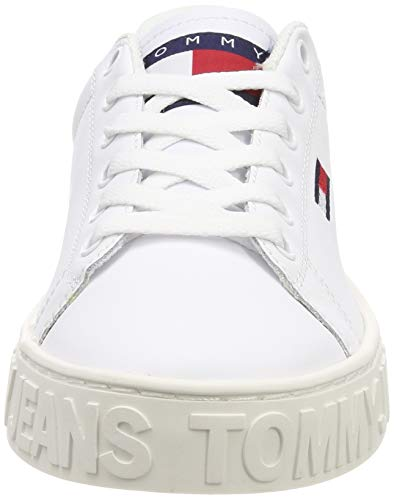 Denim Basse Cool Bianco Donna white Hilfiger Scarpe Jeans Ginnastica Sneaker 100 Tommy Da UqzdH8