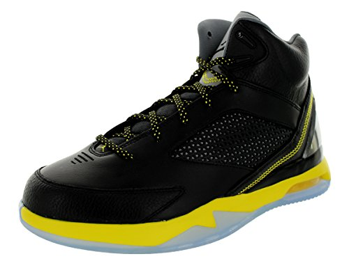 Nike Mens Jordan Air Flight Remix Black/Vibrant Yellow/Co...