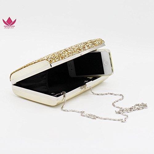 golden Bag Shiratori with Bag Crystal Clutch Lady Rhinestone Evening wCaTqR1