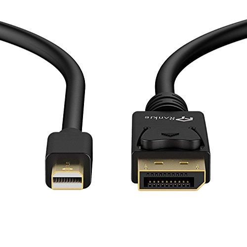 Mini DP auf DP Kabel, Rankie 1.8m Vergoldet MiniDP (Mini DisplayPort) to DP (DisplayPort) Kabel Cable 4K-Auflösung Bereit - R1105
