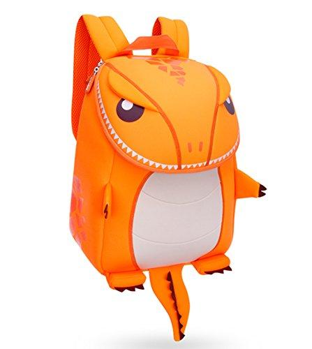 Hanaya School Kids Cartoon Bolsa de regalo, los niños escuela Mochilas, las niñas niños mochilas, bolsas de escuela, niño y niñas de la escuela mochilas, color naranja dinosaurio (13* 10.2* 6,3pulg Orange-33*26*16