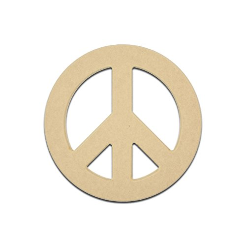 Wooden Peace Sign (18