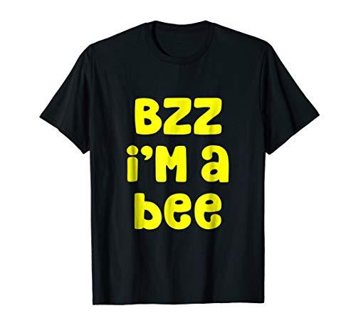Mens Bzz I'm A Bee Costume Halloween T-Shirt Large Black