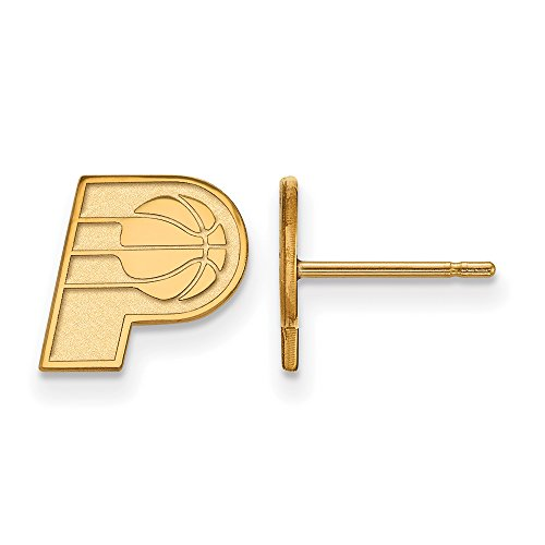 NBA Indiana Pacers X-Small Post Earrings in 14K Yellow Gold by LogoArt