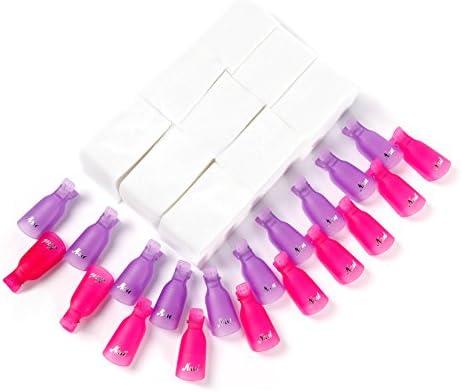 Clip para capuchas para uñas Disolvente para esmalte gel 20 piezas ...