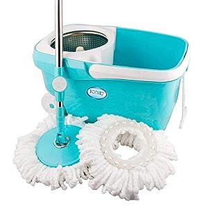 KONVIO Spin Mop Bucket with 180 Degree Bendable Handle | mop Set with Bucket | Floor Cleaning Mop Bucket with Steel…