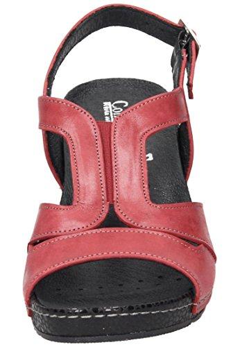 Comfortabele Dames-sandaalrot 710863-4 Robijn