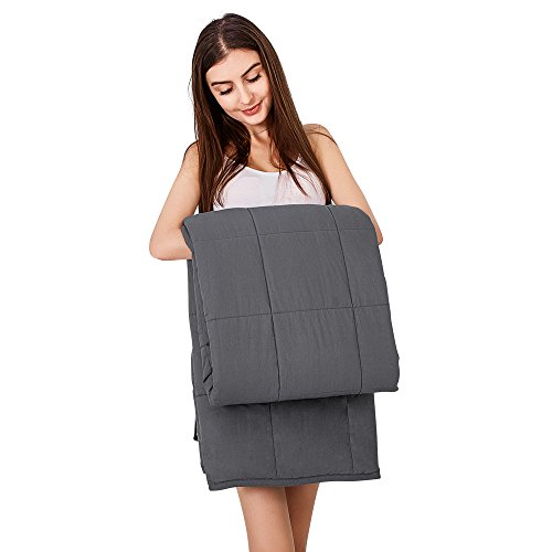 MYKPOP Summer/Autumn Cotton Weighted Blanket (60''x80'' 25 lbs, Queen Size & Weight ) | Gravity 3.0 Heavy Blanket | Great Sleep Therapy for People with Anxiety,Autism,ADHD,Insomnia or Stress