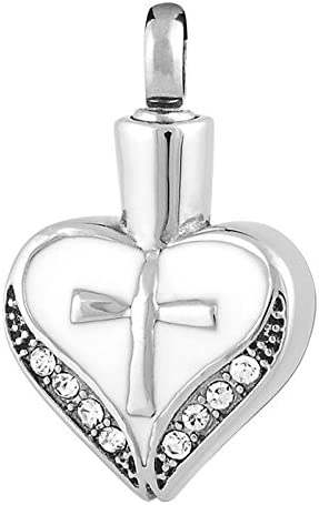 Perfect Memorials Flower for Mom Stainless Steel Cremation Jewelry