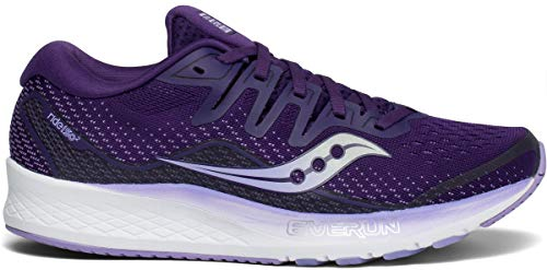 Saucony Women's Ride ISO 2 Running Shoe, Purple, 8 M US