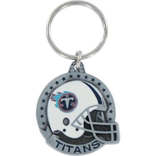 Tennessee Titans Pewter Helmet Round Keychain