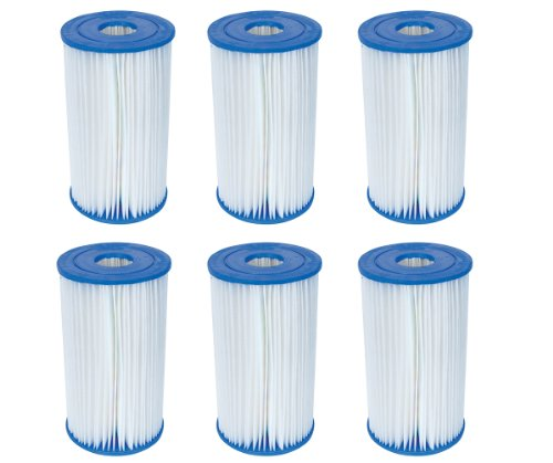 Bestway Pool Filter Pump Replacement Cartridge Type IV/B (6-Pack) | 58095