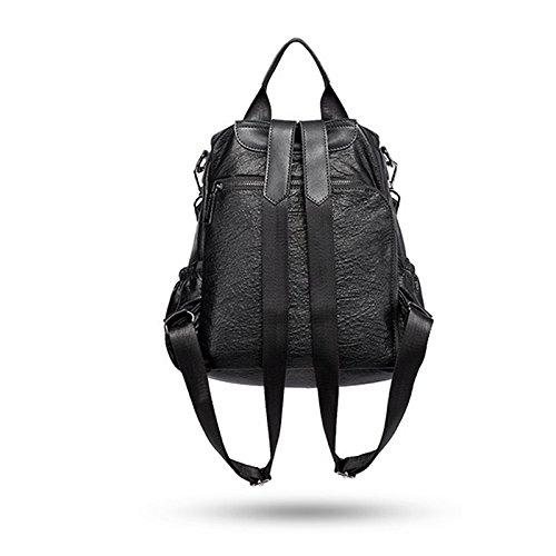 Première mode cuir dos main du couche Version sauvage Noir sac en de Sac cuir femmes pour bandoulière simple première à à Sac féminine ZCM en décontracté à SRq678wPw