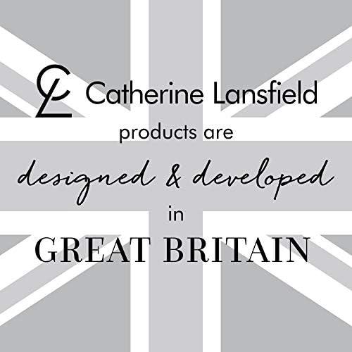 Catherine Lansfield - Parure de lit Jacquard, damassée, Argent, Polyester, Silver, Couvre-lit