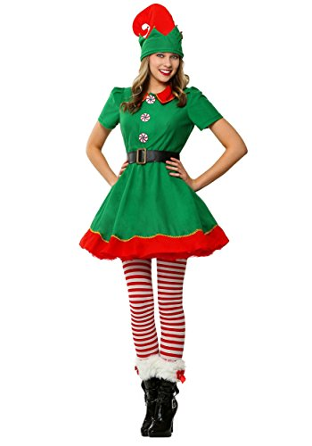 Fun Costumes Womens Holiday Elf Dress and Hat Costume Small