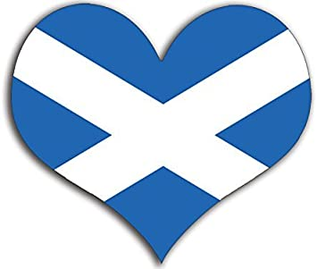 Amazon Com American Vinyl Heart Shaped Scotland Flag Sticker Scottish Saint Andrews Love Automotive