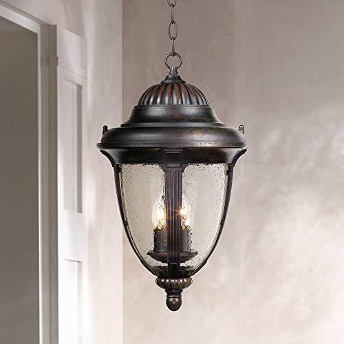 Casa Sierra Traditional Outdoor Ceiling Light Hanging Lantern Bronze 20 1/2