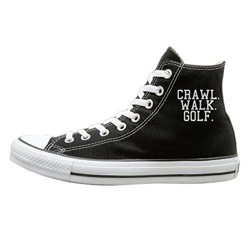 Crawl Walk Golf Evolution Unisex Hi-tops Canvas Shoes Unisex Canvas (Dog Halloween Events Los Angeles)