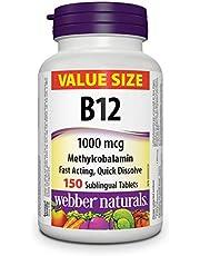 Webber Naturals Vitamin B12 Methylcobalamin, Quick Dissolve Tablet, Value Size, 1,000 mcg, 150 Count