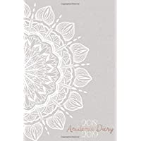 2018 - 2019 Academic Diary: Mid Year Planner | 12 Month Student Journal | Aug 18 - Jul 19 | Horizontal Week to View WO2P | White & Rose Gold Mandala Cover