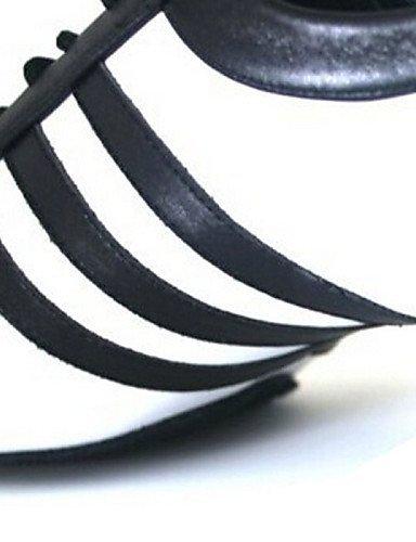 ShangYi Chaussures de danse(Noir) -Personnalisables-Talon Bottier-Cuir-Latine / Jazz / / / Baskets de Danse / Claquettes / Moderne  schwarz and Weiß 375e39