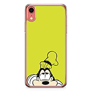 Loud Universe Bored Dog Goofy iPhone XR Case Good Cartoon Old iPhone XR Cover with Transparent Edges
