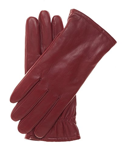 (Pratt and Hart Women's Classic Thinsulate Lined Leather Gloves Size 8 1/2 Color Red)