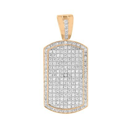 Amazon rose gold dog tag pendant 14k finish lab diamond micro rose gold dog tag pendant 14k finish lab diamond micro pave charm mens 38 inch aloadofball Choice Image