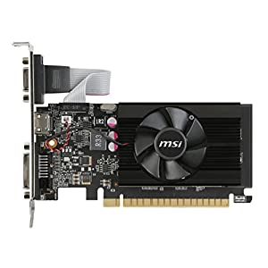 MSI Computer GeForce GT 710 2GB DirectX 12 PCIe x16 2.0 Low Profile Graphic Card (GT 710 2GD3 LP)