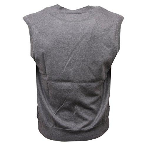 Cardigan Grigio Sleeveless Gilet Uomo C9390 Sweater Woolrich Smanicato Men ICfwtq