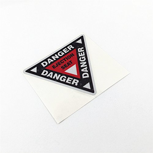 - DXYMOO 2PCS Funny Warning Danger Ejection SEAT Car Stickers Motorcycle Vinyl Decals 10x8.7cm (C)