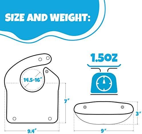 RainbowBeauty 1 PC Silicona Suave Alimentar Babero a Prueba de Agua Ajustable broches de presi/ón Baberos para beb/és para beb/és y ni/ños peque/ños con Comida Receptor de Bolsillo Verde