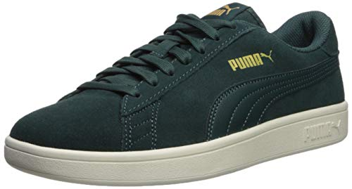 Puma Suede Shoe Green - PUMA Men's Smash V2 Sneaker ponderosapine-teamgold-whisperwhite 8.5 M US