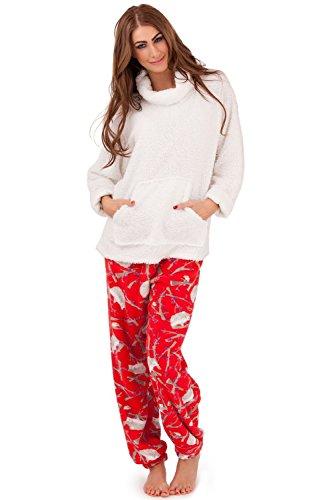 Loungeable Mujer Set Pijama NUEVO Sherpa cuello vuelto O Con Capucha Damas Ropa Cómoda Rot Hedgehog PJs