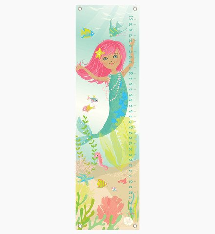 (Sea Urchin Studio Mermaid Growth Chart, Kids Growth Chart, Wall Growth Chart, Wall Height Chart, Kids Height Chart)