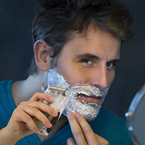 Electric Shaver for Men, Pro Lithium Titanium Foil Shaver, Bald Head Shaver Beard Trimmer Hair Clippers, USB Rechargeable (Translucent Case)