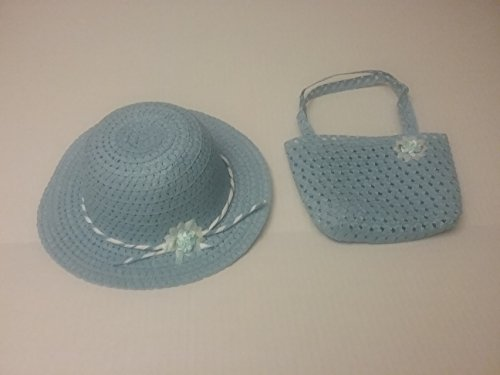 Girls Tea Party Hat and Purse Dress Up Set - Blue